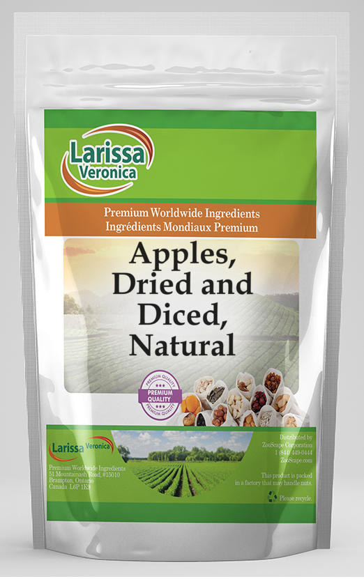 Apples, Dried and Diced, Natural