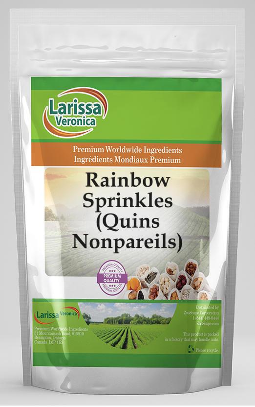 Rainbow Sprinkles Quins Nonpareils