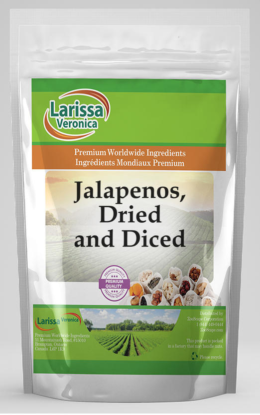 Jalapenos, Dried and Diced