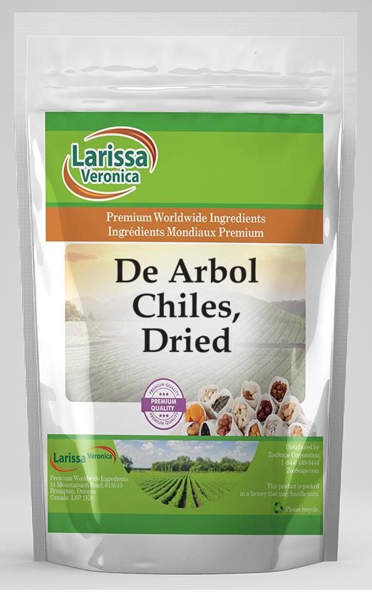 De Arbol Chiles, Dried