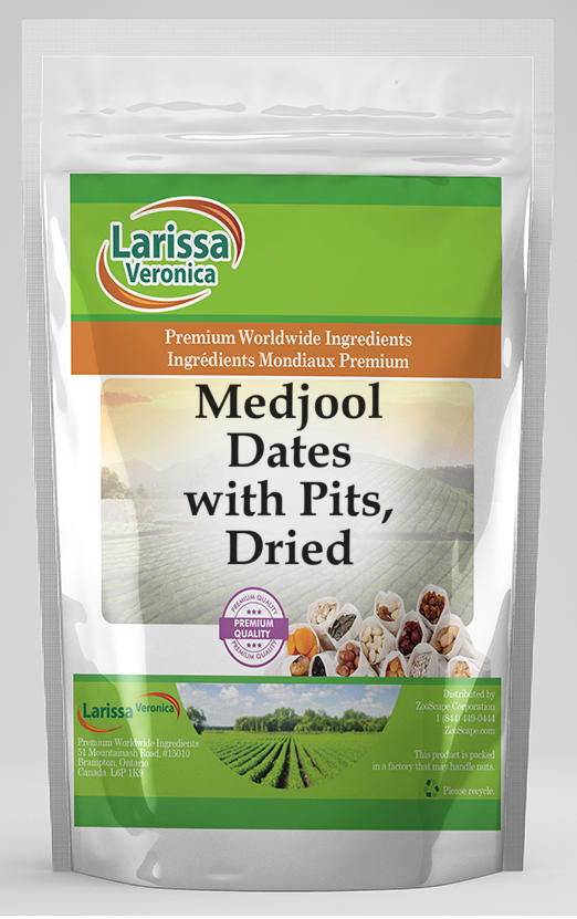 Medjool Dates with Pits, Dried