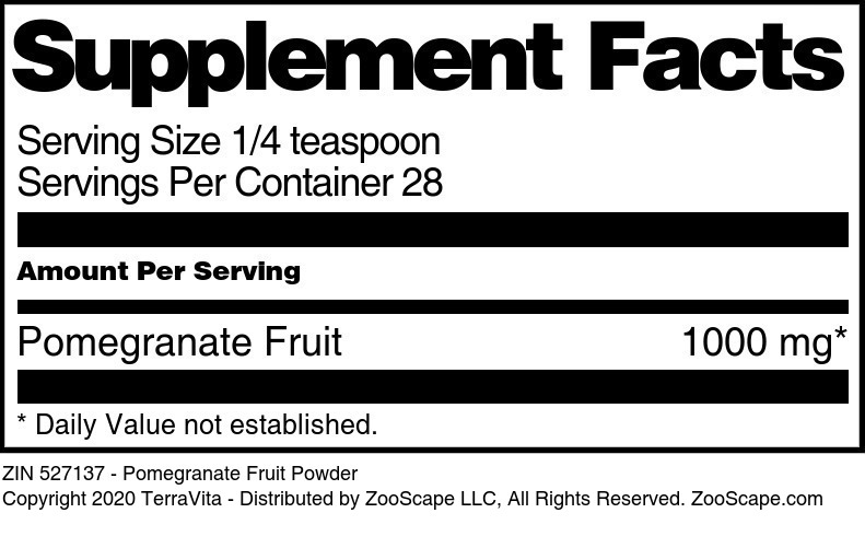 Pomegranate Fruit Powder