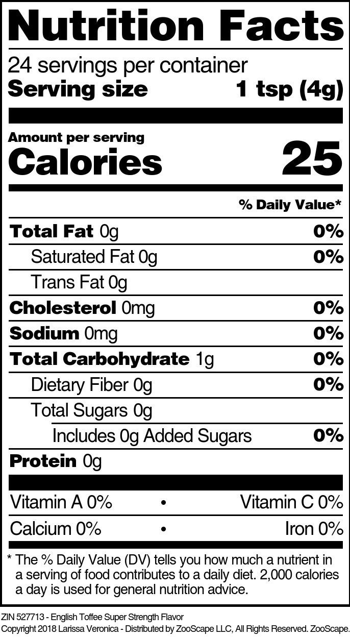 English Toffee Super Strength Flavor