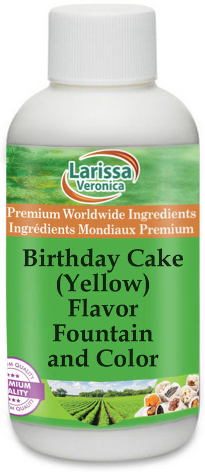 Birthday Cake (Yellow) Flavor Fountain and Color