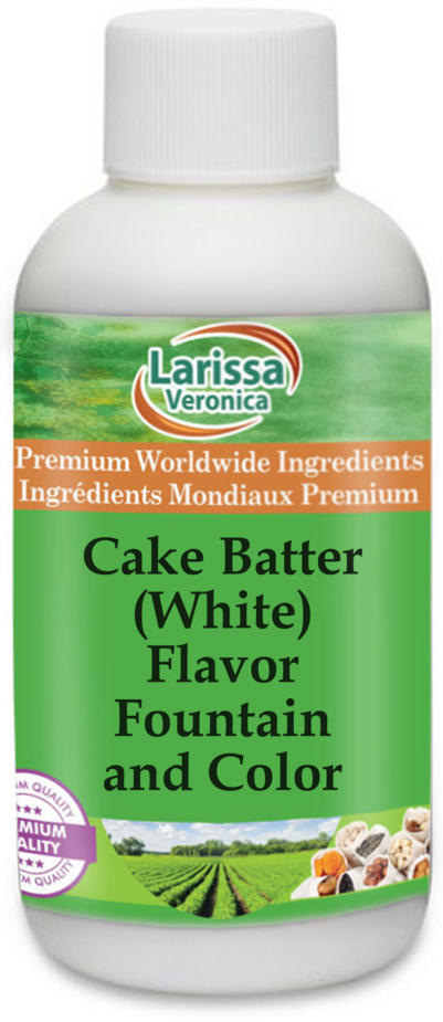 Cake Batter (White) Flavor Fountain and Color