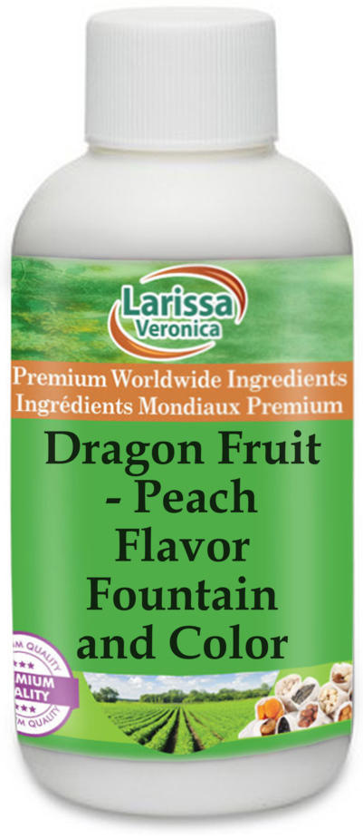 Dragon Fruit and Peach Flavor Fountain and Color