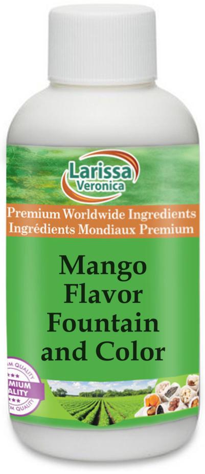 Mango Flavor Fountain and Color