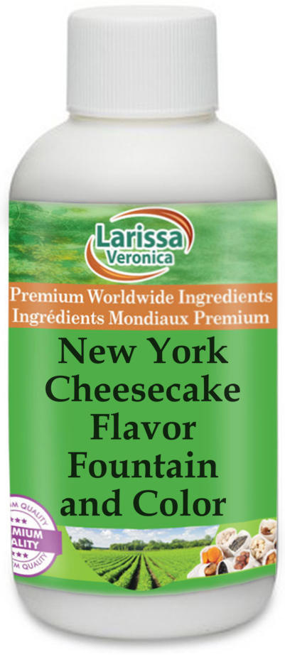 New York Cheesecake Flavor Fountain and Color