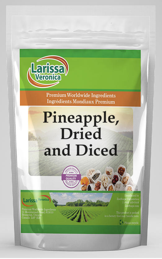 Pineapple, Dried and Diced