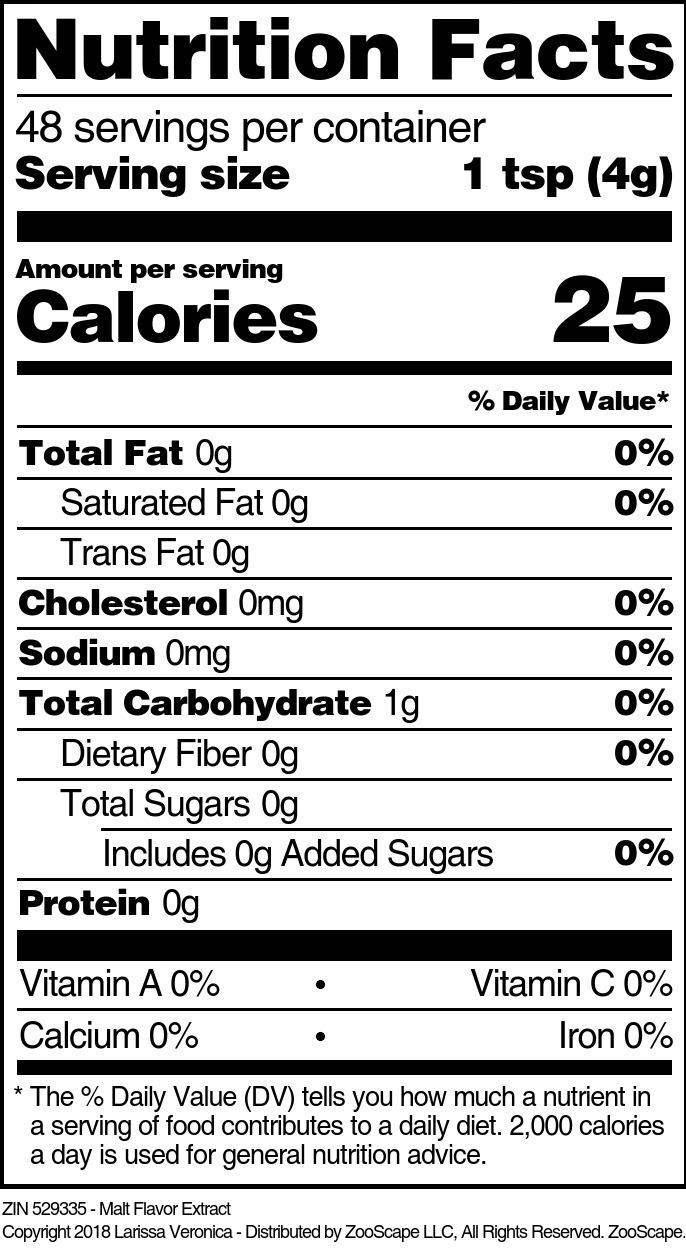 Malt Flavor Extract