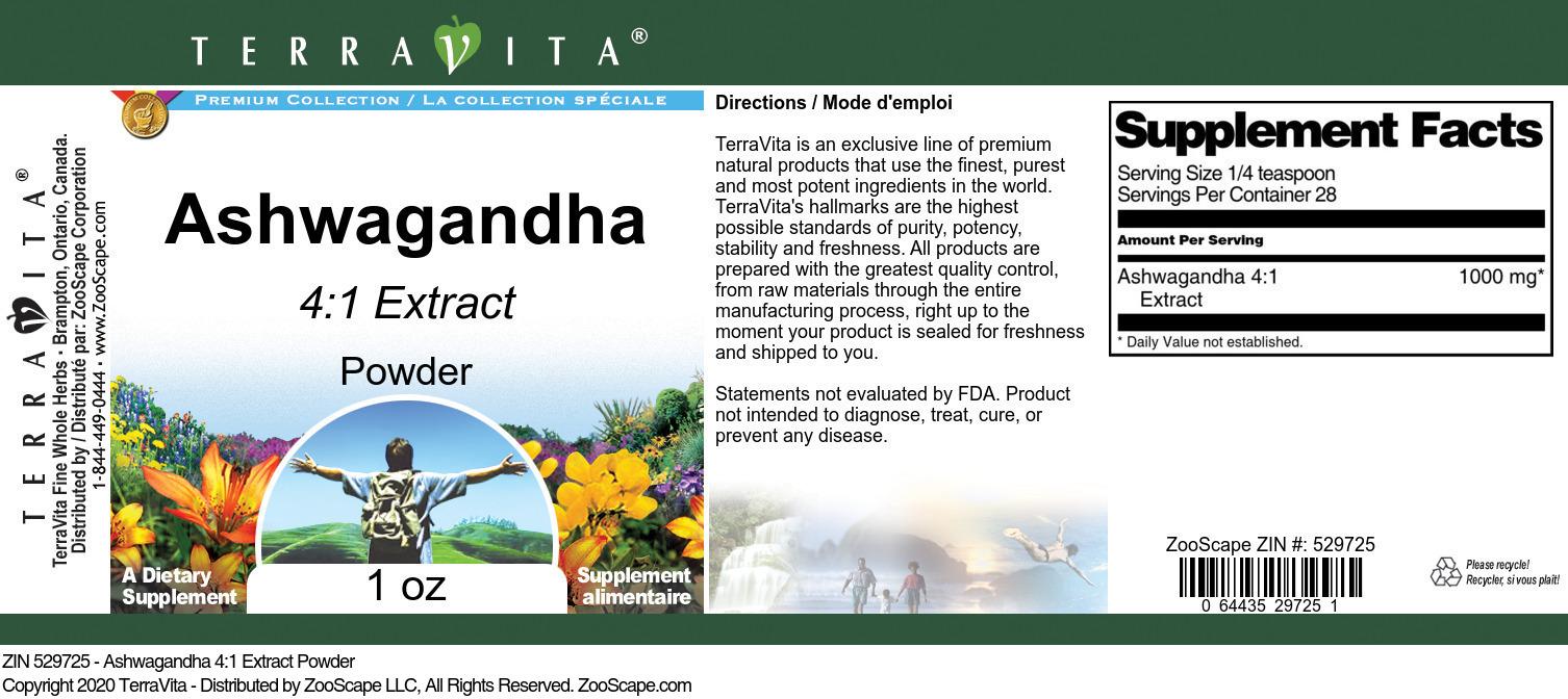 Ashwagandha 4:1 Extract Powder
