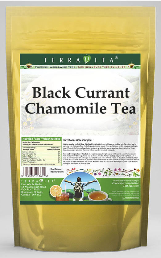 Black Currant Chamomile Tea