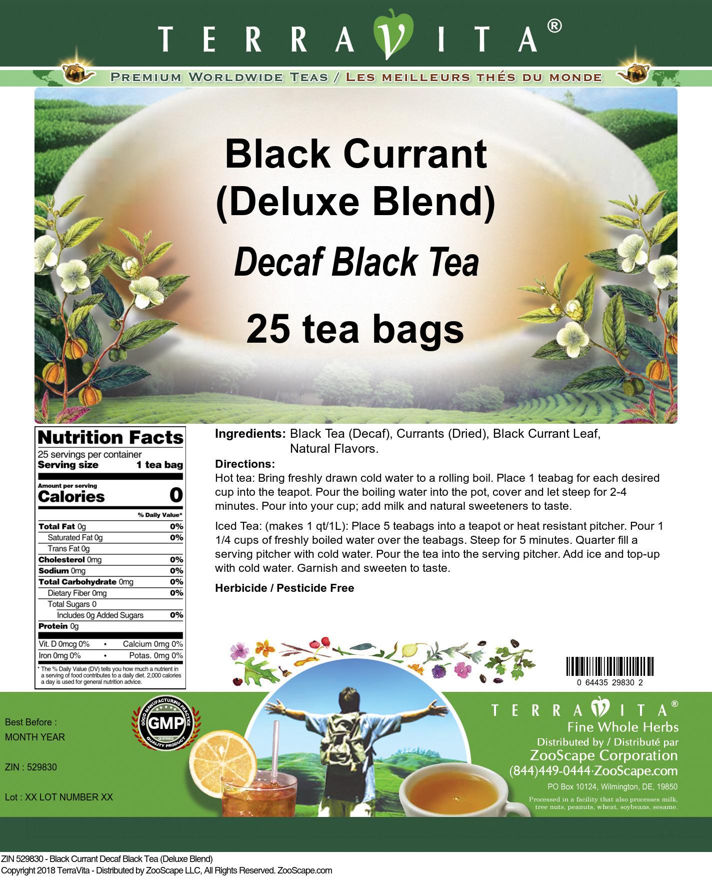 Black Currant Decaf Black Tea (Deluxe Blend)