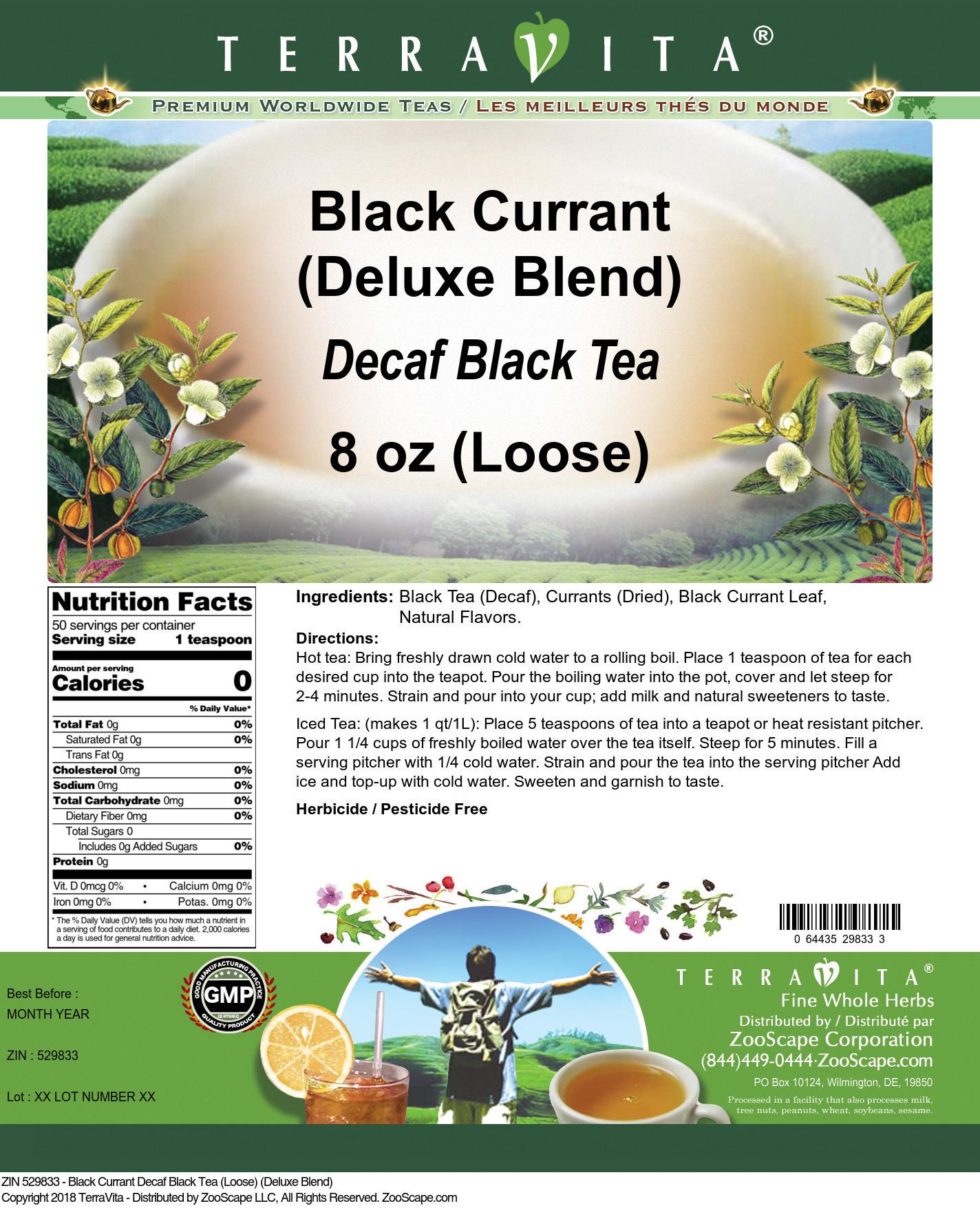 Black Currant Decaf Black Tea (Loose) (Deluxe Blend)