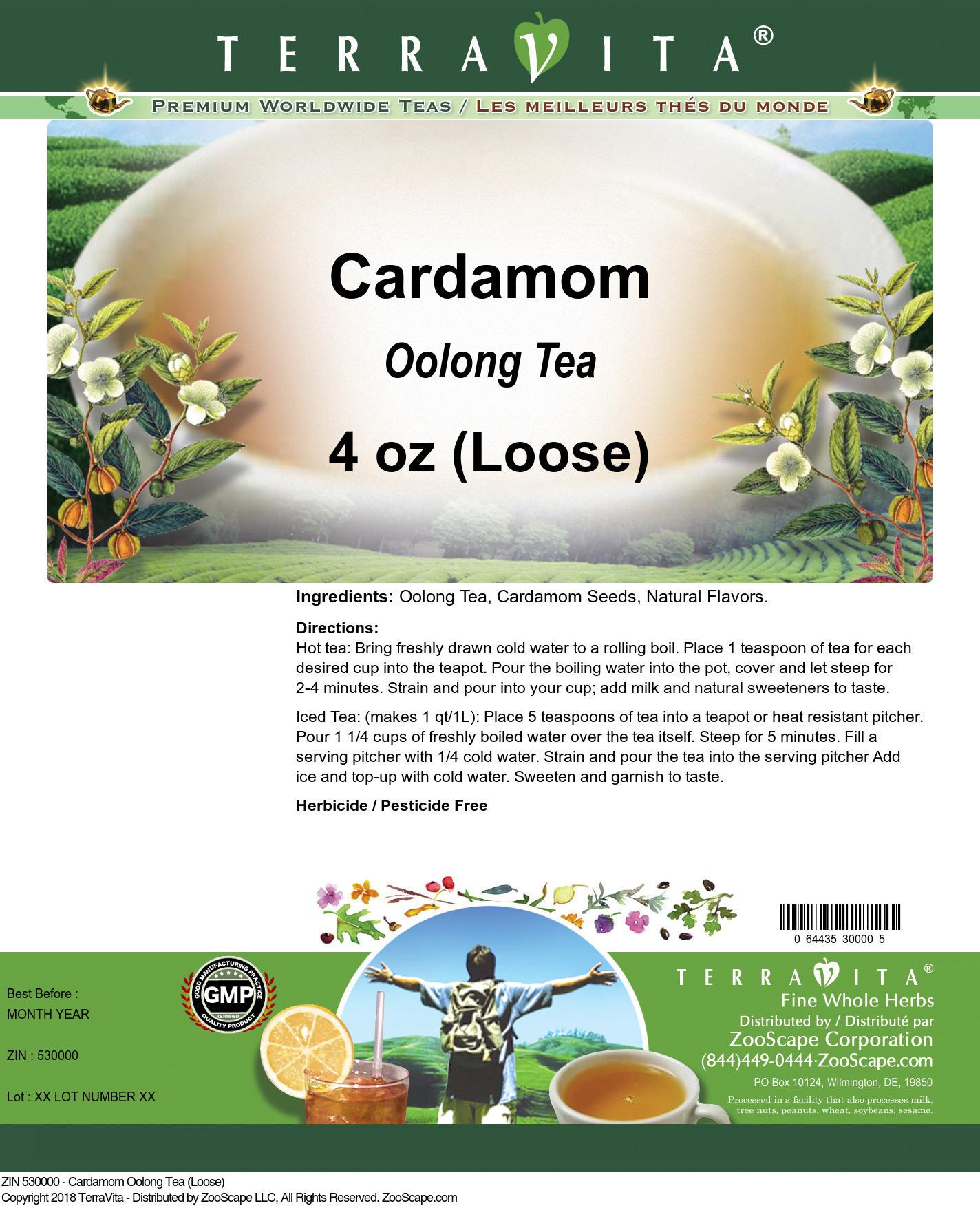 Cardamom Oolong Tea (Loose)
