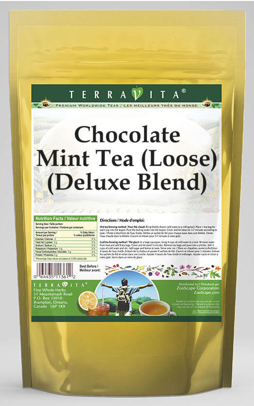 Chocolate Mint Black Tea (Loose) (Deluxe Blend)