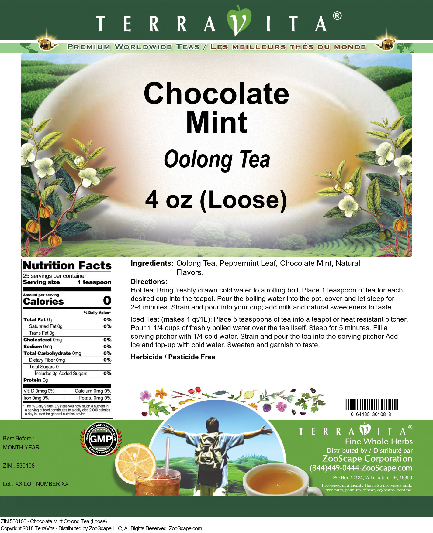 Chocolate Mint Oolong Tea (Loose)