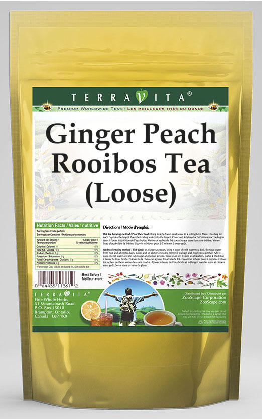 Ginger Peach Rooibos Tea (Loose)