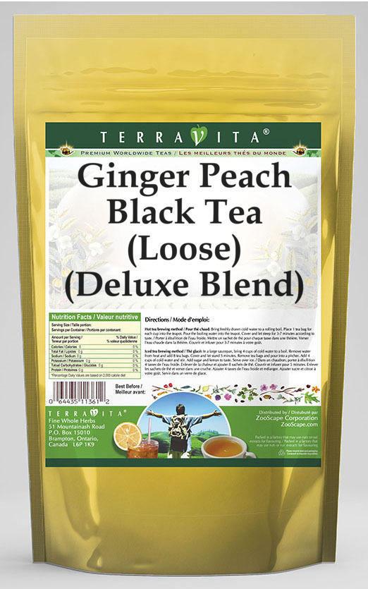 Ginger Peach Black Tea (Loose) (Deluxe Blend)