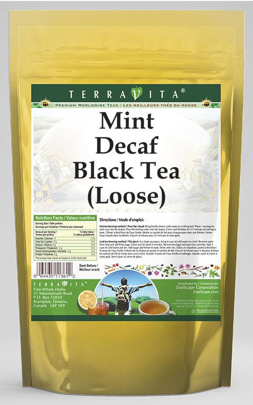 Mint Decaf Black Tea (Loose)