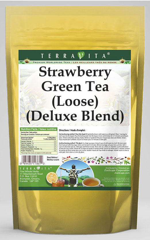 Strawberry Green Tea (Loose) (Deluxe Blend)