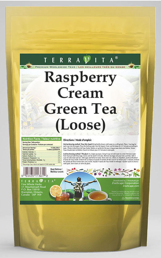 Raspberry Cream Green Tea (Loose)