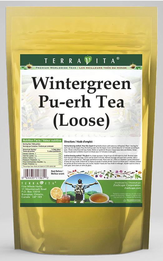 Wintergreen Pu-erh Tea (Loose)