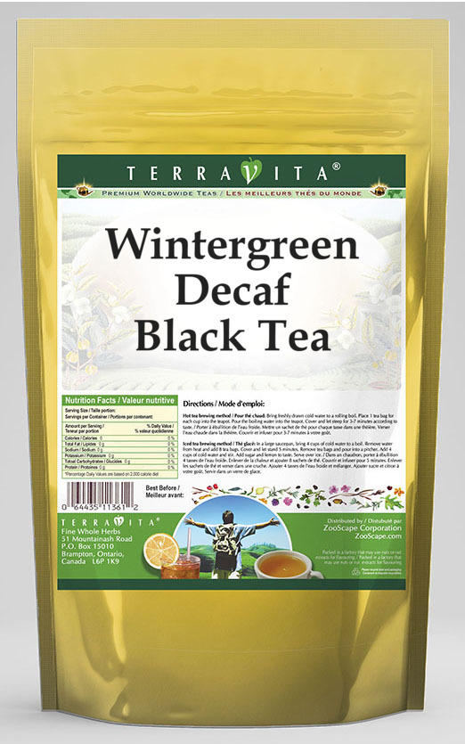 Wintergreen Decaf Black Tea