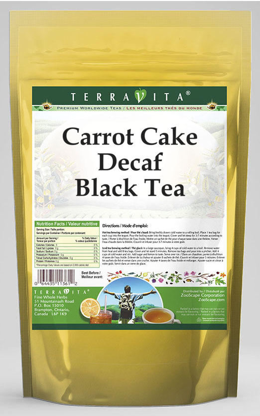 Carrot Cake Decaf Black Tea