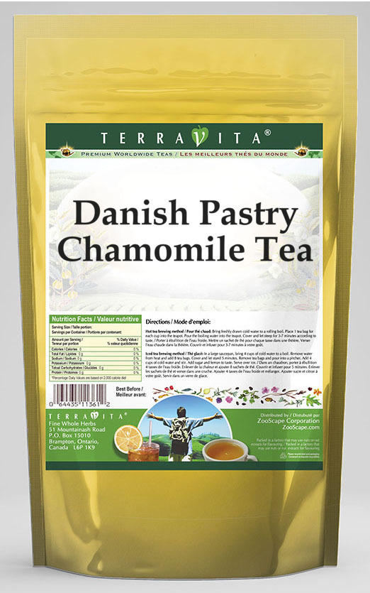 Danish Pastry Chamomile Tea