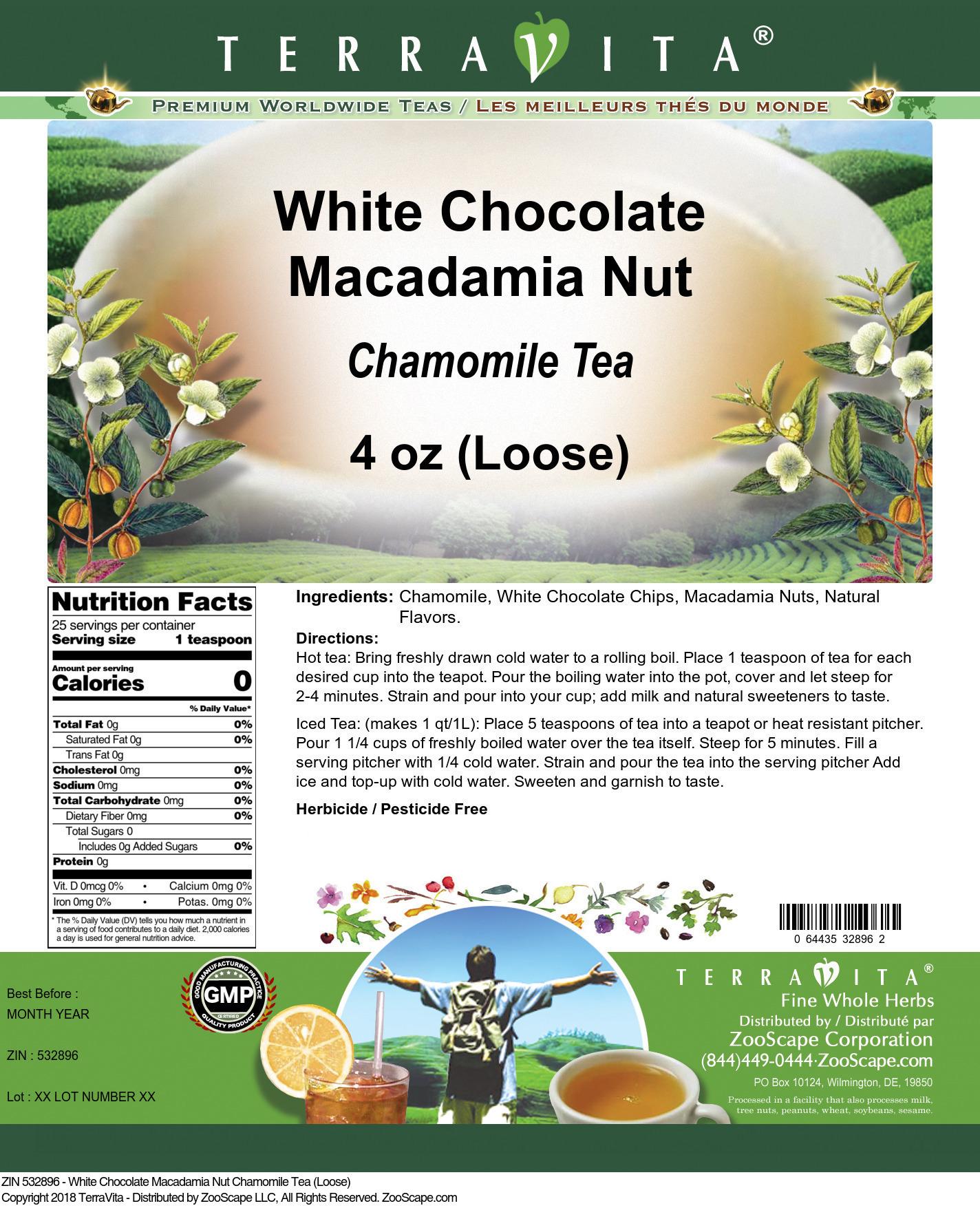 White Chocolate Macadamia Nut Chamomile Tea