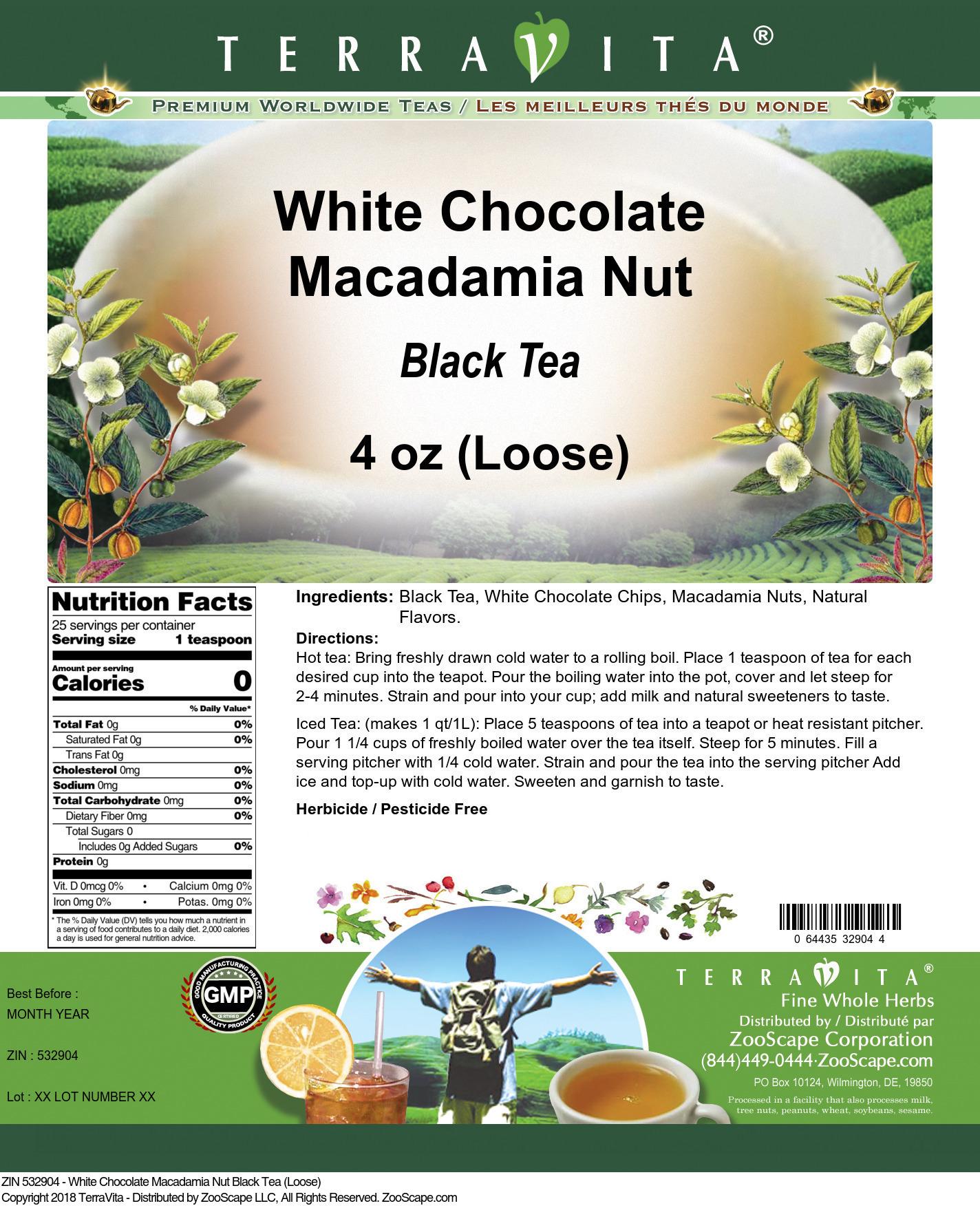 White Chocolate Macadamia Nut Black Tea