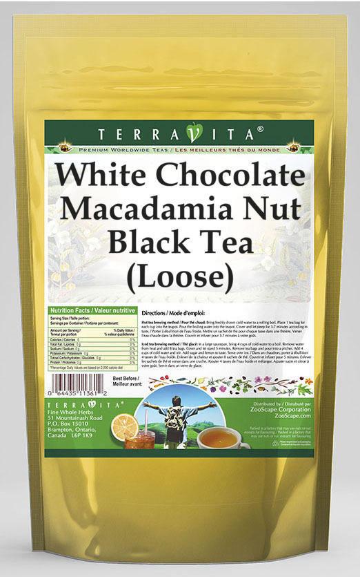 White Chocolate Macadamia Nut Black Tea (Loose)