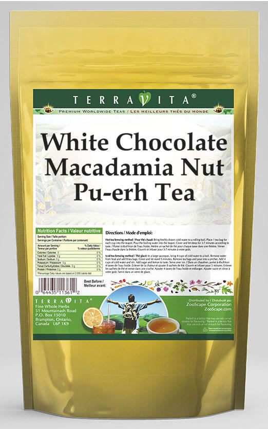 White Chocolate Macadamia Nut Pu-erh Tea