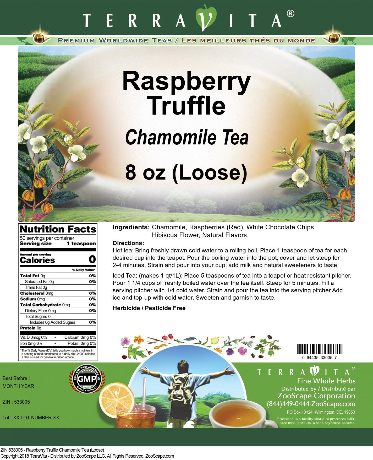Raspberry Truffle Chamomile Tea