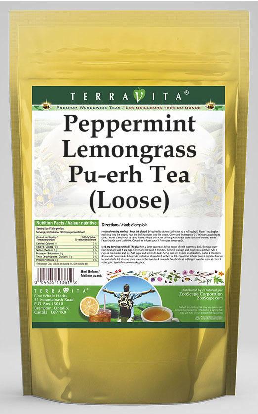 Peppermint Lemongrass Pu-erh Tea (Loose)