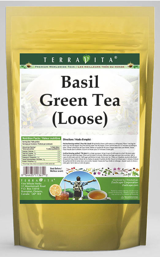 Basil Green Tea (Loose)