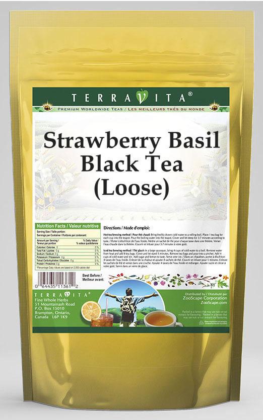 Strawberry Basil Black Tea (Loose)