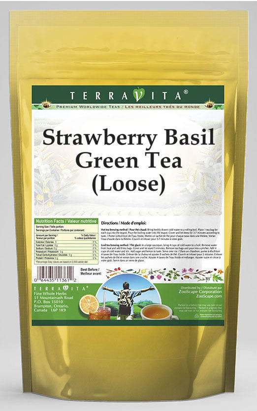Strawberry Basil Green Tea (Loose)