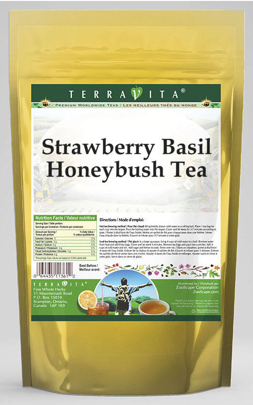 Strawberry Basil Honeybush Tea