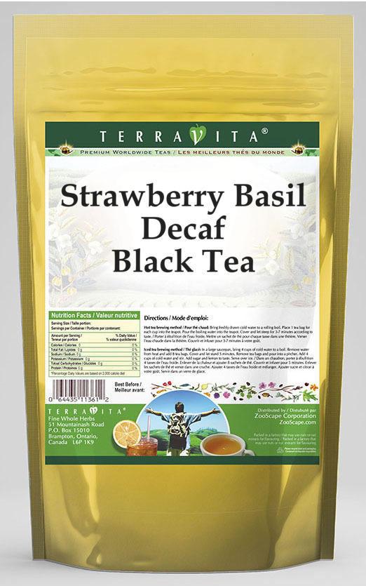 Strawberry Basil Decaf Black Tea