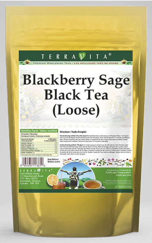 Blackberry Sage Black Tea (Loose)