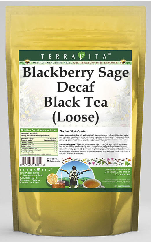 Blackberry Sage Decaf Black Tea (Loose)