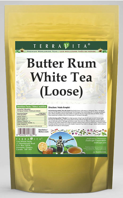 Butter Rum White Tea (Loose)