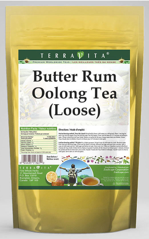 Butter Rum Oolong Tea (Loose)