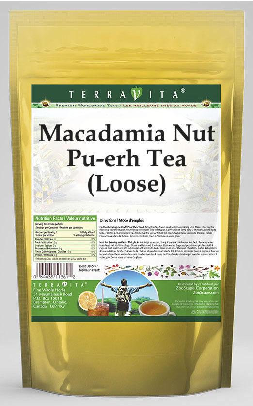 Macadamia Nut Pu-erh Tea (Loose)