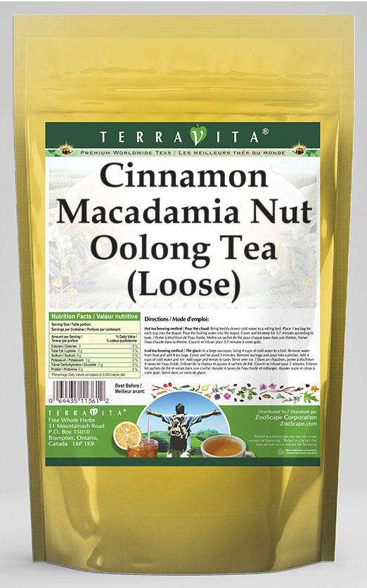 Cinnamon Macadamia Nut Oolong Tea (Loose)