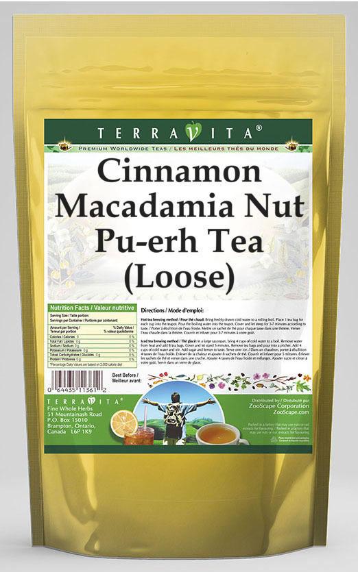 Cinnamon Macadamia Nut Pu-erh Tea (Loose)
