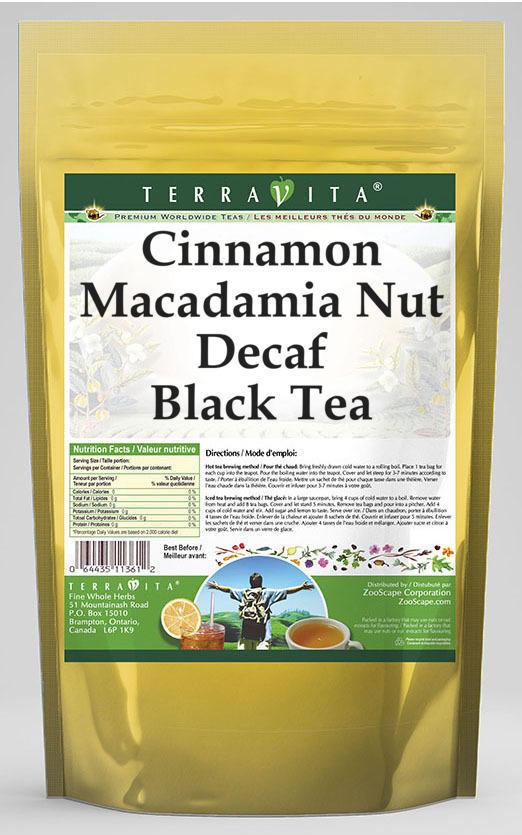 Cinnamon Macadamia Nut Decaf Black Tea