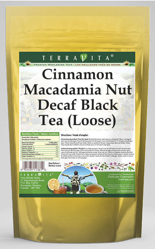 Cinnamon Macadamia Nut Decaf Black Tea (Loose)